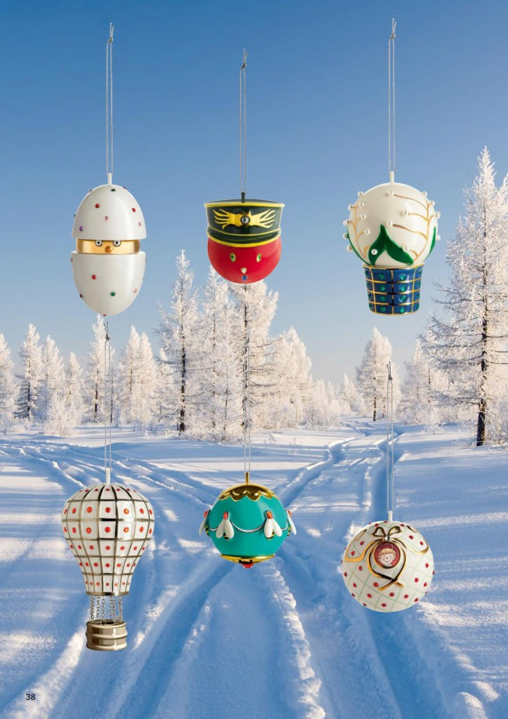 Christmas baubles Faber Jori, designed by Marcello Jori for Alessi