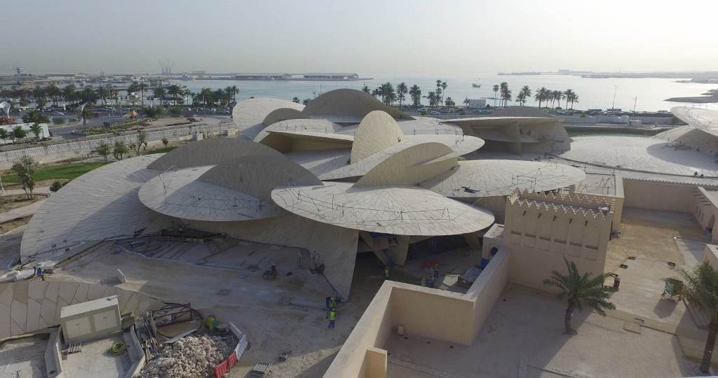 National Museum of Qatar, Doha, designed by Jean Nouvel *The mage curtesy Ateliers Jean Nouvel