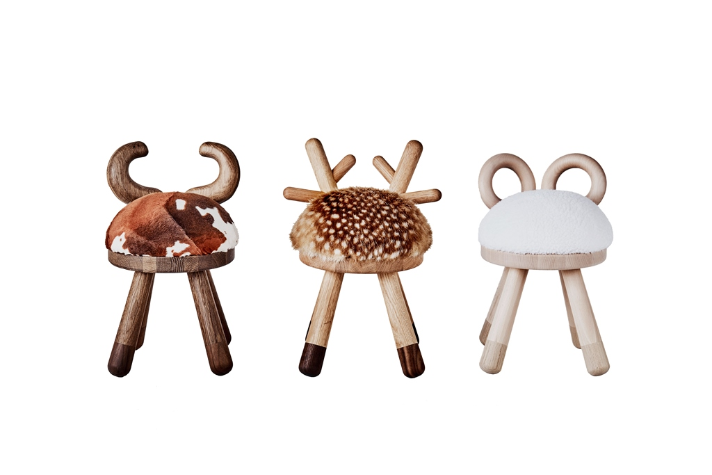 Bambi Chair, Sheep Chair and Cow chair designed by Takeshi Sawada for EO