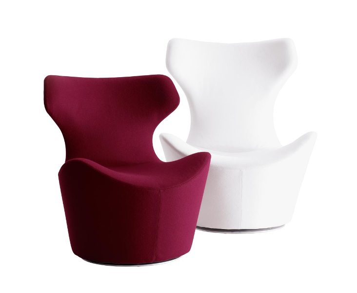 Armchairs Piccola Papilio designed by Naoto Fukasawa, for B&B Italia