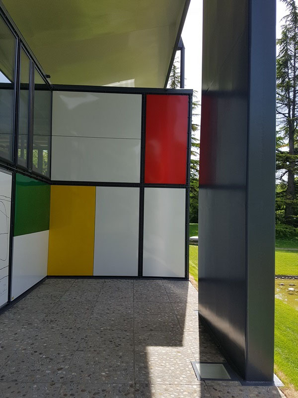 Pavillion Le Corbusier in Zürich,2019, façade panels. Photo by MMS*