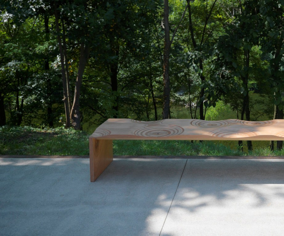 Ripples bench designed by Toyo Ito for  Horm