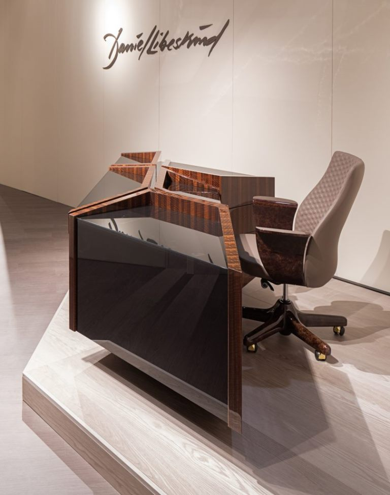 Edge  office writing desk by Daniel Libeskind for Turri Images courtesy Turri