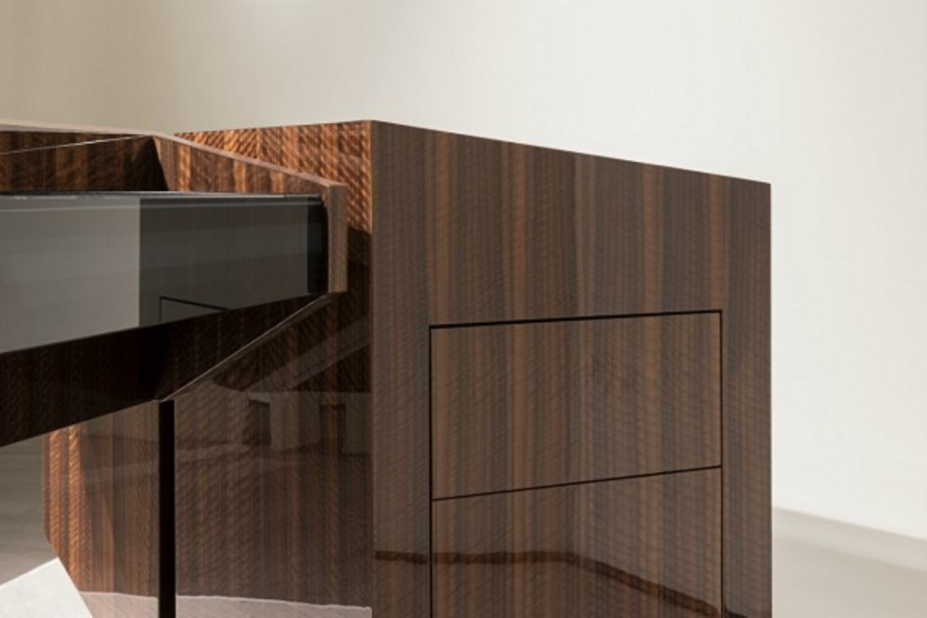 Edge office writing desk by Daniel Libeskind for Turri Images courtesy Luxury Topics