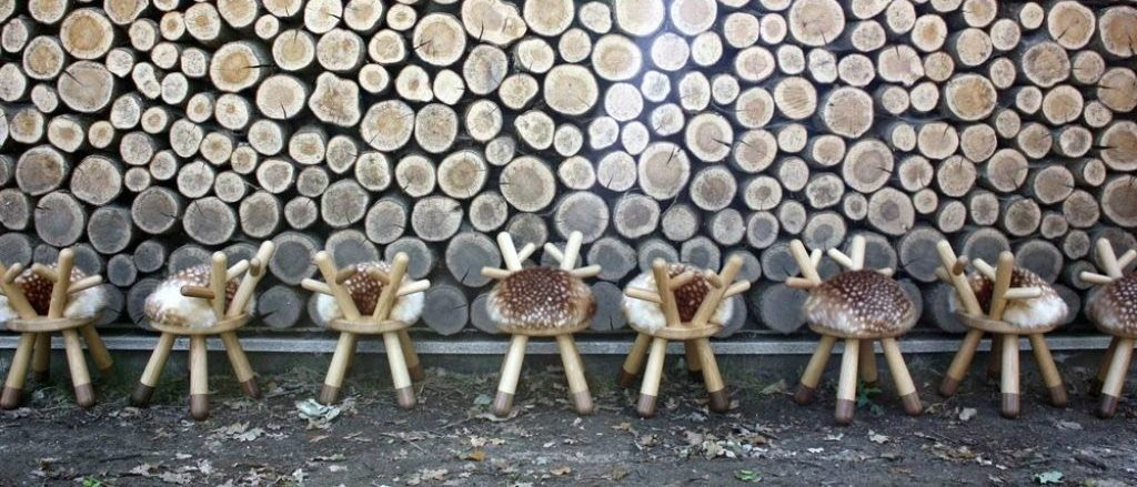 Bambi Chair (with faux fur) designed by Takeshi Sawada for EO