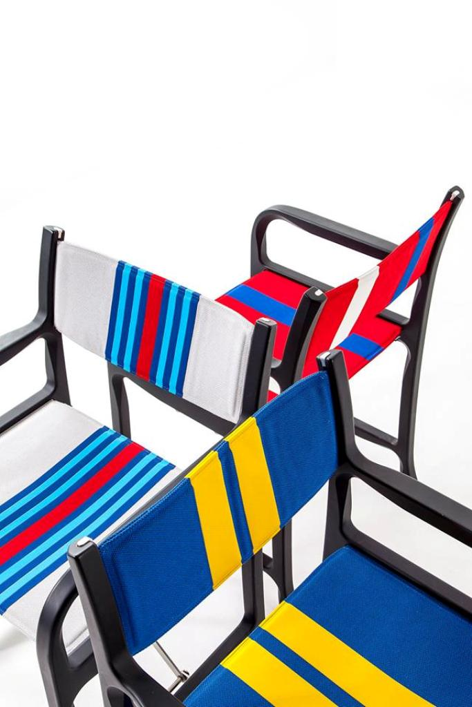 Folding chair 298 (UNICREDIT PAVILION PROJECT) designed by Michele De Lucchi for Cassina (Photo from Cassina Facebook )