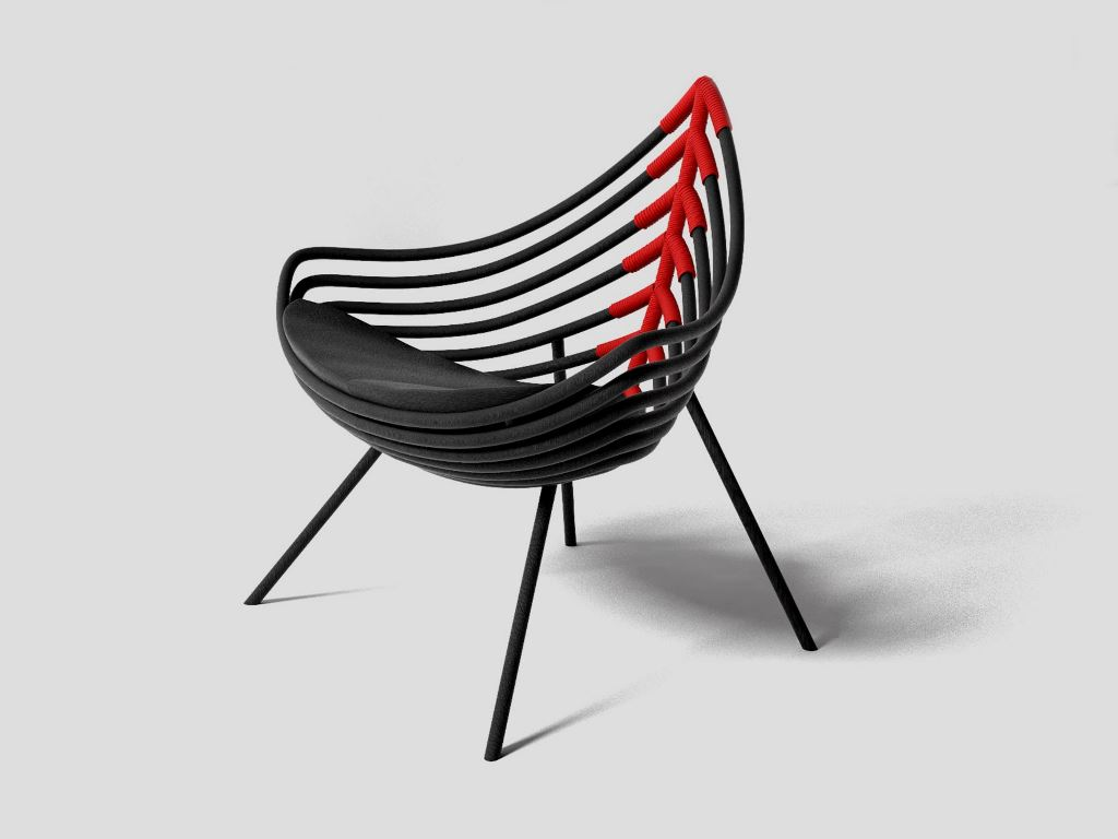 Design Sérgio José De Matos: Pirarucu Armchair,2017; producer Estúdio Sérgio J Matos SaloneSatellite 20 Years Collection