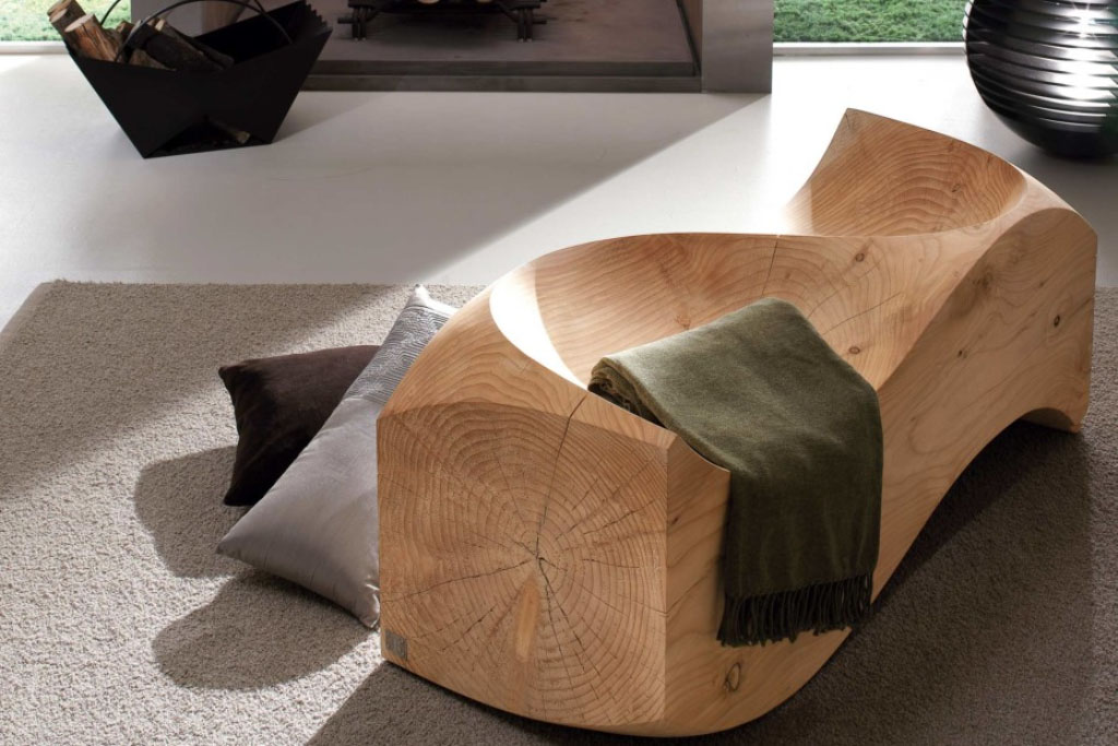 Wooden bench Loveseat designer Jake Phipps (2008)