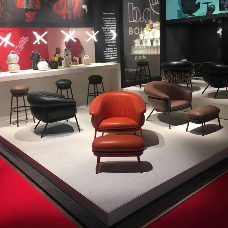 Stand BD Barselona ,Salone Del Mobile 2018 Photo Stephen Burks Instagram post